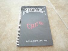 Metallica Madly In Anger S America & Japan 2003 Band Concert Tour Itinerary Book