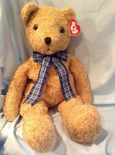 "Ty Lg. Curly Gold Bear #9019 Korea 24"" P.E. Pellets 1991 Girls Boys 3+ $47.00"