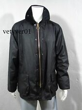 BARBOUR Classic Bedale Waxed Cotton Equestrian/Hunting/Shooting Coat Black sz 50