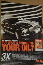 ★★RARE-2008 MUSTANG FRAM ADVERTISEMENT PHOTO AD- FORD★★