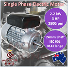2.2kw 3HP Single-Phase 2800rpm Electric Motor REVERSIBLE 240v B14 Mount CSCR
