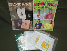 Waste Canvas Craft Lot, Booklets and Fabric