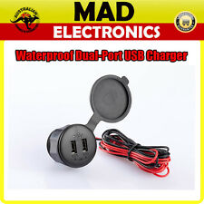 WATERPROOF DUAL-PORT USB CHARGER 2.1AMP FOR TABLET & 1.0AMP FOR SMART PHONE