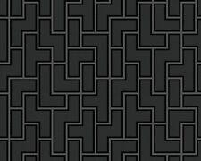 Malla papel pintado as Metropolis michalsky 93937-1 Design Tetris negro gris 939371