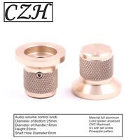 25*22mm aluminum potentiometer knob for amplifier speaker DAC turntable CD *1