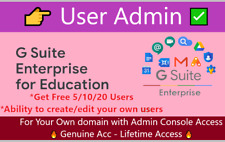 Gsuite Enterprise- User ADMIN🔥 with free 10 users for Your OWN Domain -Lifetime
