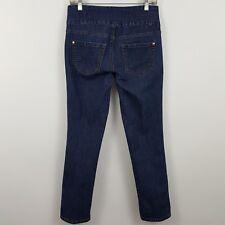 Jag Jeans Pull On High Rise Slim Leg Women's Dark Wash Blue Jeans Sz 6P - 29x28