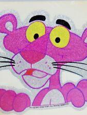Nos DeadStock Vintage 1980s ROACH Pink Panther Glitter Glam Cartoon Sticker Rare