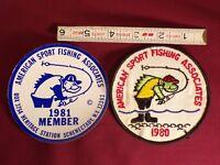 Vintage 1980 1981 American Sport Fishing Associates Fishing Club Patch Sticker