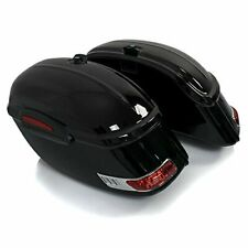 ROKEX RS Motorcycle Saddlebags Chopper Side Cases W/ LED Lights 33L Each - Pair