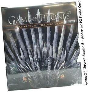 Spiel Von Thrones Staffel 8 (Acht) - Offiziell Sammelmappe / Album & P2 Karte -