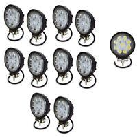 10x Flutlicht 27W 3Wx9 Weiss LED Scheinwerfer Arbeitsscheinwerfer Garten 12-24V