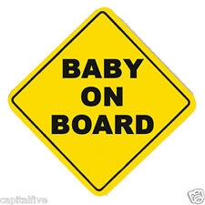 Baby On Board Sign CHILD ON BOARD with Suction Cup Vehicle safety BABY ON BOARD