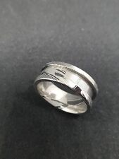Damascus steel ring Blank core For Inlay Jewellery Making. Variety of sizes.