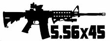 AR-15 Vinyl Decal Sticker Car Window Wall Bumper Gun Ammo Assault Rifle M16 5.56
