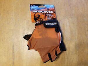 NOS Mongoose Fingerless Cycling Gloves BMX MTB L Large Bike Biking
