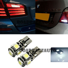 2x For BMW Back Up Revese Camera LED Bulb T10 5-SMD Xenon White Bulb Error Free