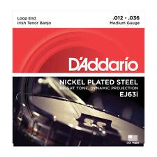 D'Addario EJ63I Irish Tenor Banjo Strings Nickel Wound Loop End 12-36