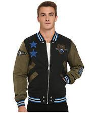 DIESEL J-tendenza nero/verde militare giacca Taglia S 100% AUTENTICO