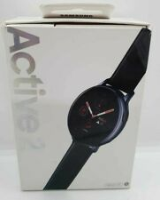 Samsung Galaxy Watch Active2 LTE (4G) 40mm Stainless Steel - Black Leather Strap