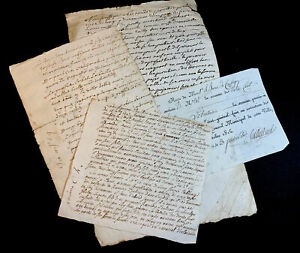 LOT OF FOUR OLD DOCUMENTS from 1600-1800