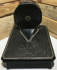 Vintage 1930s Art Deco Bathroom Scale - 300lb capacity Detecto Cast Iron Lowboy