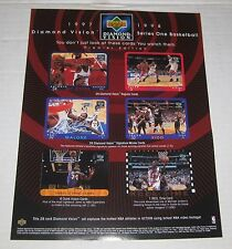 UPPER DECK 1997-98 DIAMOND VISION NBA Basketball CardS Advertisement Promo Flyer