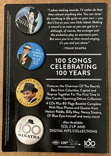 "Frank Sinatra ""Ultimate Sinatra/100 Songs Celebrating 100 Years"" PROMO buttons"