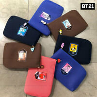 BTS BT21 Official Authentic Goods Air Mesh Cable Pouch 220 x 35 x 150mm