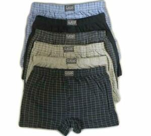 3 6 12 Pack Mens Plus Big Size Cotton Boxers Printed Shorts Underwear Size S-6XL