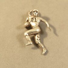 .925 Sterling Silver 3-D FOOTBALL PLAYER CHARM Pendant Receiver 21 NEW 925 SP97