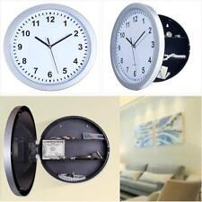 Hidden Secret Wall Clock Money Stash Jewelry Stuff Storage Safety Container Box