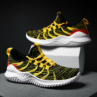 Men's Flyknit Sneaker Fashion Casual Breathable Sports Shoes Outdoor Athletic