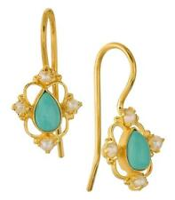Daphne Dearheart Turquoise and Pearl Earrings: Museum of Jewelry
