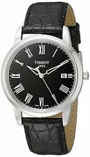 Tissot Classic Dream Black Dial Black Leather Strap Men's Watch T0334101605301