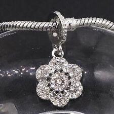 1pcs silver flower European Charm Beads Fit 925 Necklace Bracelet  SH673