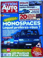 Action Auto Moto n°2 du 5/1994; Spécial Monospaces/ Essais Safran Vs Omega