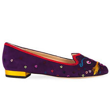 Charlotte Olympia Suede QIQI Flats - Size 6.5 / 37