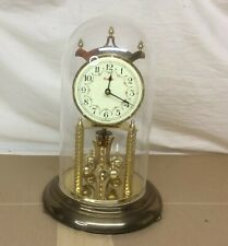 VINTAGE KUNDO ANNIVERSARY CLOCK WITH DOME MADE IN GERMANY