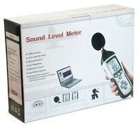 CEM DT-8852 Digital Sound Noise dB Meter Data Logger /w MEMORY PC USB Datalogger