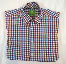 Forsyth of Canada Mens Size M Long Sleeve Non Iron Plaid Button Front Shirt