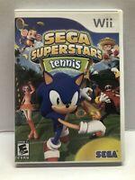 Sega Superstars Tennis (Nintendo Wii Kids Game) Clean & Tested Working Free Ship