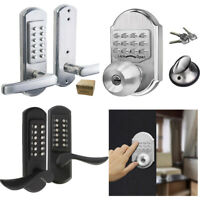 SMART Keyless Door Lock  Mechanical Digital Code SECURITY Entry Keypad Stainless