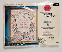 VTG Paragon Wedding Sampler 0139 Embroidery Cross Stitch Kit Belgian Linen NEW!