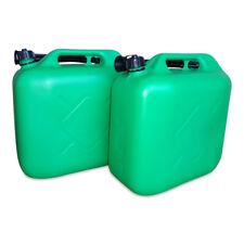 2 x 20 Liter Dieselkanister Benzinkanister UN-Zulassung grün inkl. Ausgießer NEU