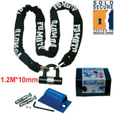 FD-MOTO 1.2M Motorbike Motorcycle Chain Lock & OXFORD Ground Anchor Security