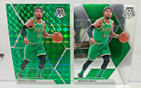 Marcus Smart  - 2 Card Lot 2019-20 Mosaic Green Prizm & Base Cards #109 Celtics