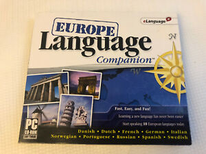 EUROPE LANGUAGE COMPANION Learn 10 European Languages Windows PC CDROM 2007 Xp