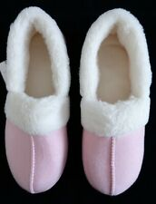BonMarche Slippers Size 6 Pink & Wool Lined For Comfort & Warmth