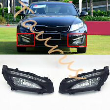 For KIA Optima K5 2011-13 LED DRL Daytime Running Light+ Fog Lamp Cover+Fog Lamp